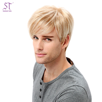 STfantasy Hot-Selling Natural Looking Short hair Men Wig 613 blonde wigs For Male