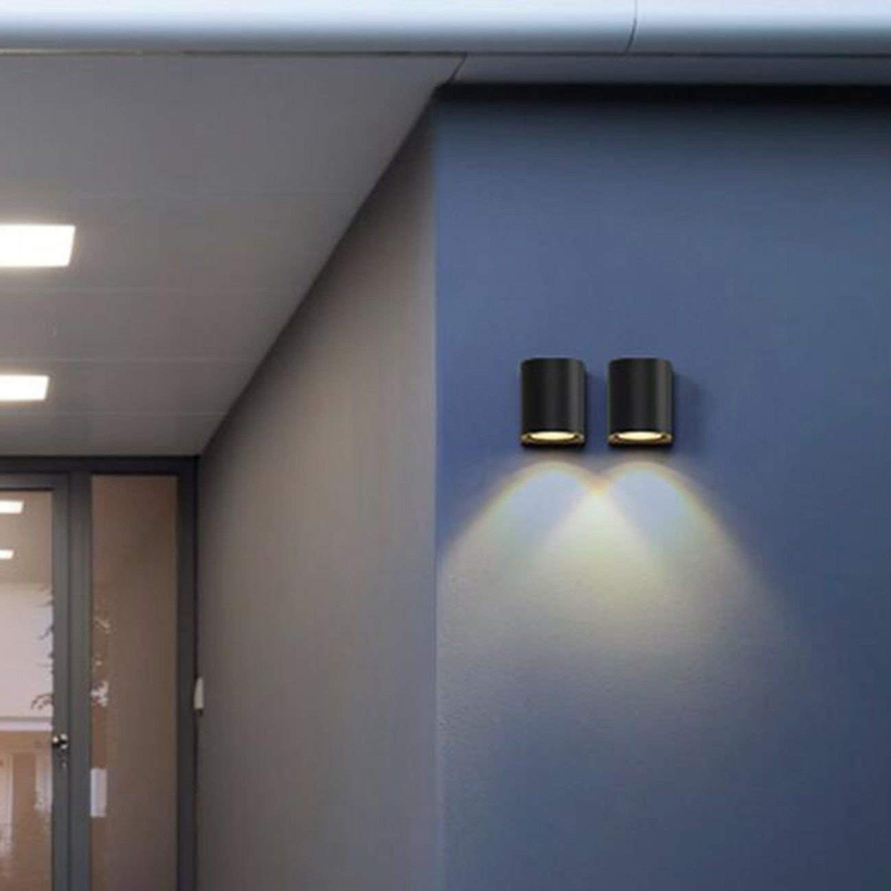 Get Quotations · Wall Light Outdoor Lights, Staircase Aisles, Waterproof  Led Wall Lamps, Nordic Modern Minimalist