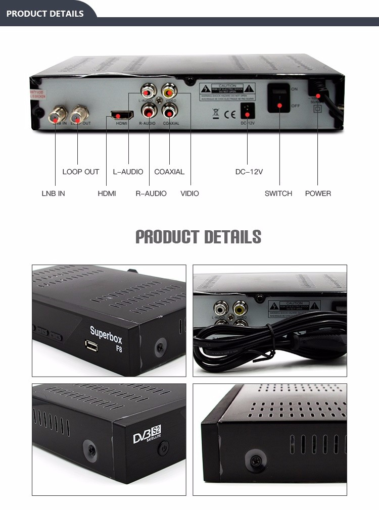 digital satellite receiver dvb-s2 tv box set top box free to air iptv box
