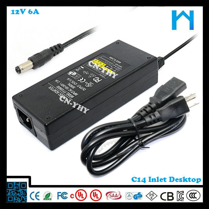 lightning hdmi adapter 12v 6a ac dc adapter for pos machine 72w desktop adaptor