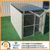 5'x10' X6' Heavy Duty galvanized welded dog kennel add on with Solid Wall Panel and Roof Shelter