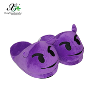Cotton fabric women emoji slippers