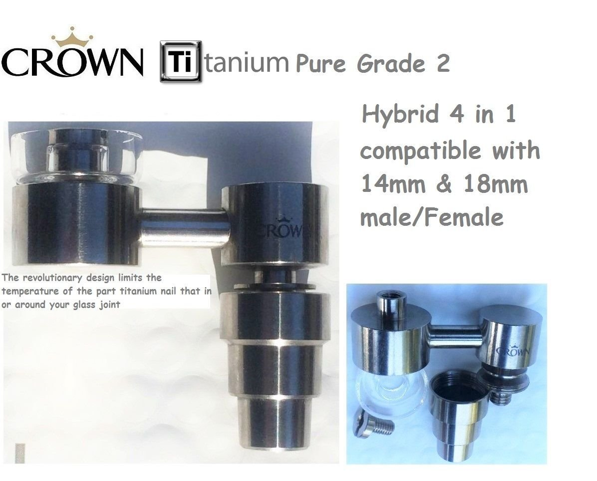 Buy Crown Titanium Hybrid Quartz Enail Medical Grade 2