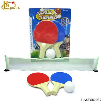 a76ef2cb7 Atacado brinquedos Do Esporte para indoor e Outdoor ping pong raquete com  bola e net mini