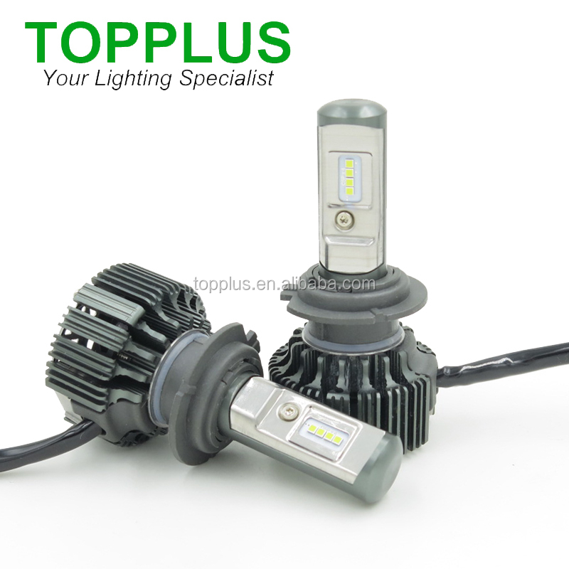 new t6 turbo led car headlight bulb h7 35w 3500lm 6000k led bulb for car