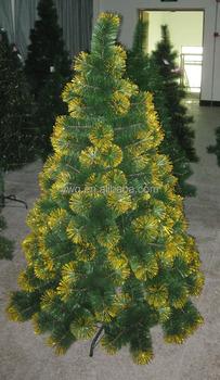 180cm pine neddle xmas tree with golden glitter canadian pine tree