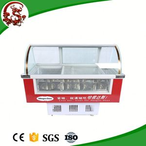 Commercial good quality counter top ice cream display refrigerator
