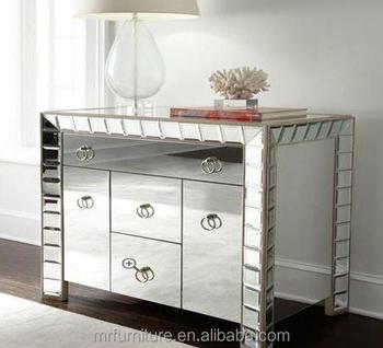 MR 4G0095 Hollywood Regency Mirrored Cabinet Bedroom Furniture
