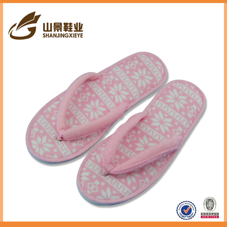 luxury home bedroom slippers with differernt color flip flop slipper