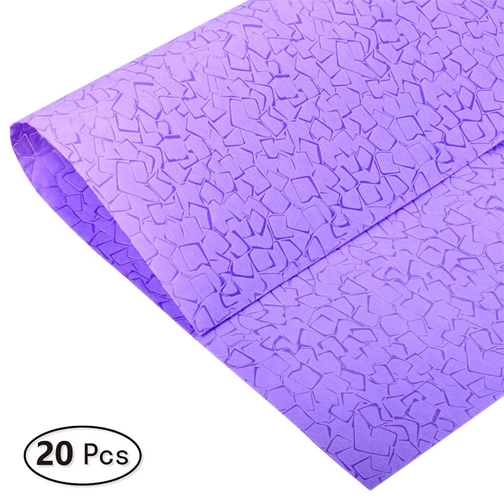 BBC Translucent Waterproof Flower Wrapping Paper White 20 Counts 23.6x23.6 Inch
