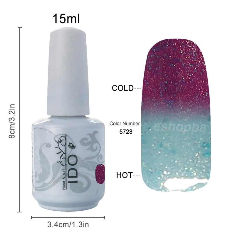 48 Colors IDO 5728 Professional UV Gel Nails Kit Change Color Nail Gel Polish Product