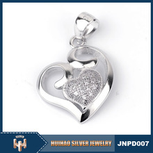 wholesale fashion 925 sterling silver heart locket pendant for women