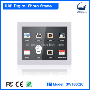 8 Inch Cloud Wifi Digital Photo Frame With 10 Point Capacitive Touch ...