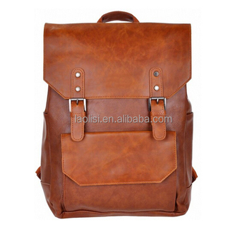 42165edae203 Alibaba china supplier vintage backpack leather bags men custom leather  backpack