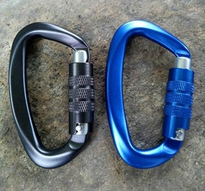 Rigging Hardware Snap Hooks Aluminum Carabiner with Auto locking hooks