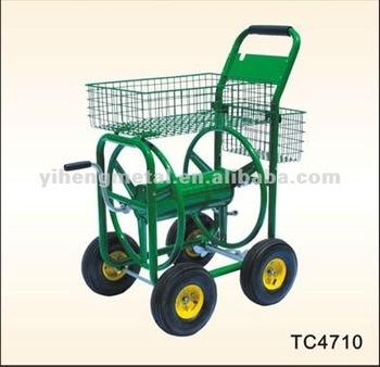 Liberty Wheel Garden Water Hose Reel Cart TC4710