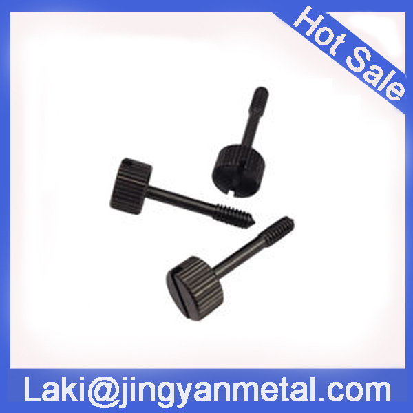 Black slotted captive screws use for electronics industrial