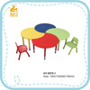 HY-0575-1 MDF wooden school type kindergarten desks and chairs
