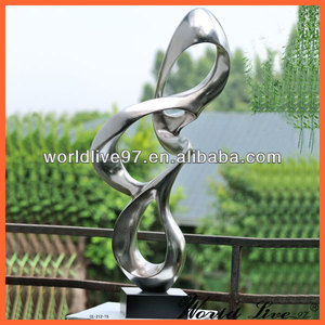 CE-212 High Quality Modern Silver Resin Abstract Craft