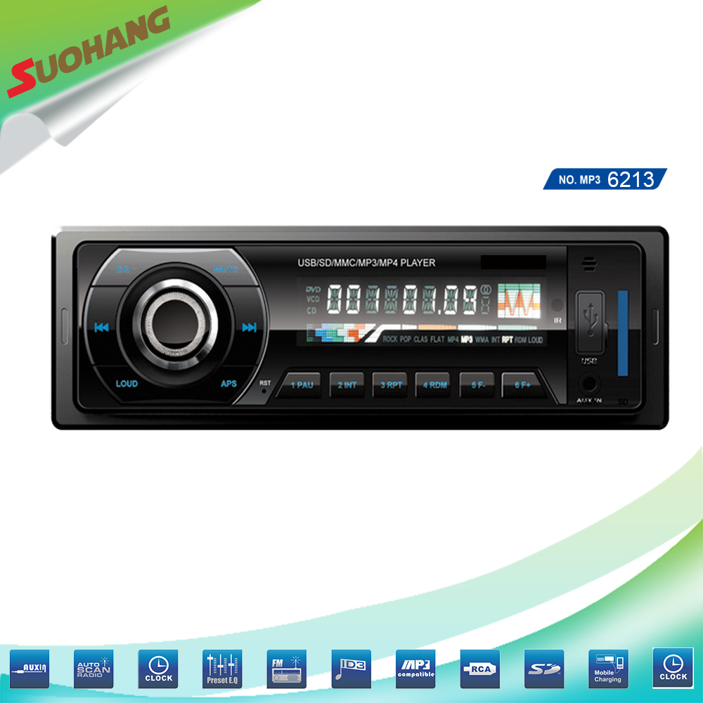 High quality car mp3 player with usd sd fm radio