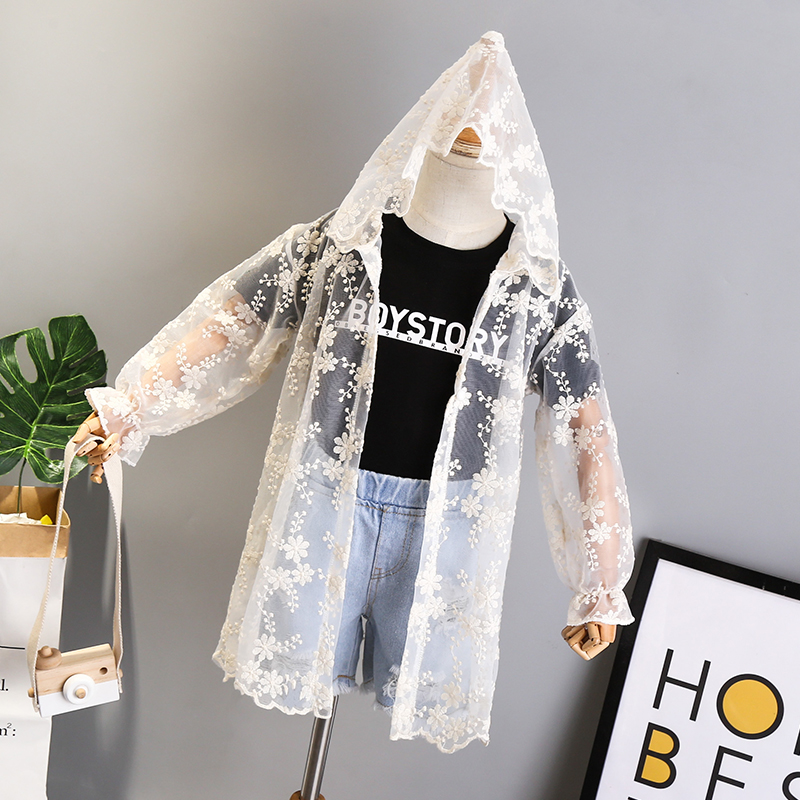 sun coat jacket baby hooded kid wear Jacket white girls jacket
