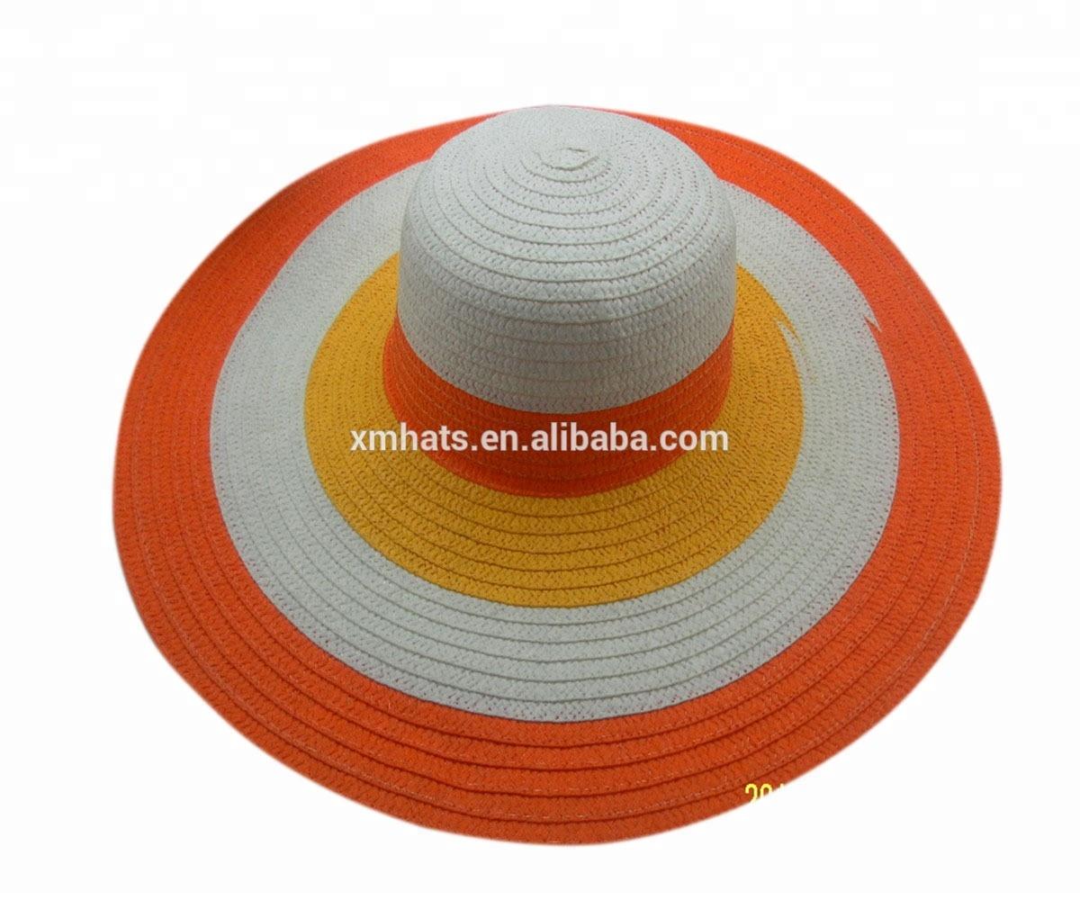 Zhejiang manufacture summer wide brim paper braid straw hat