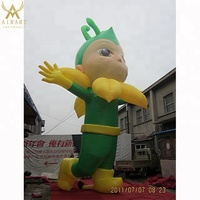 Happy holiday square decor inflatable bee boy cartoon mascot for advertising