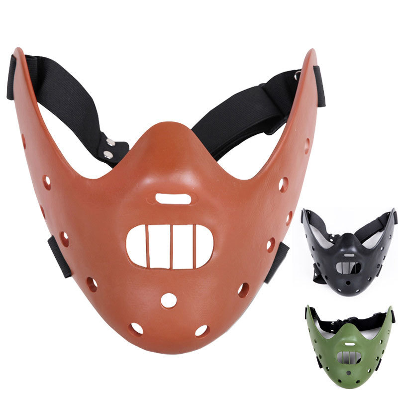 High quality Silence of the Lambs Hannibal Lecter mask resin crafts mask  happy Halloween delicate decoration craft supplies mask