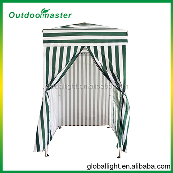 Pop Up Stripe Green Color Beach Cabana Tent
