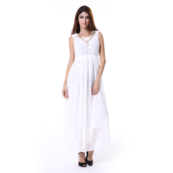 Spring summer 2016 casual dress for beach party white dress