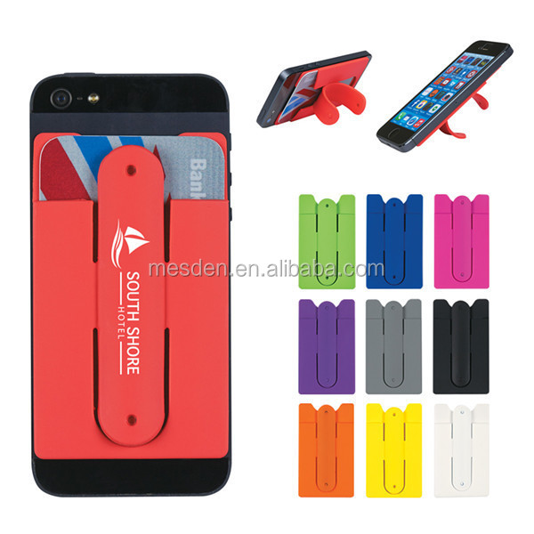 Phone Card Holder >> 3m Adhesive Smart Phone Pocket Lastest Rubber Card Wallets Holders
