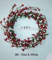 Bright Red/White Candle Ring / Wreath