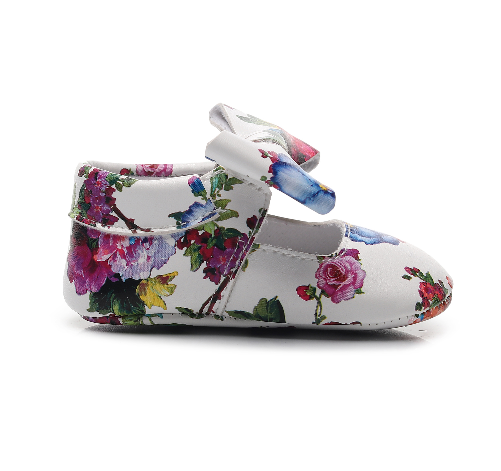 Toddler Moccasins Floral Beautiful Princess Shoes Bow PU Leather Baby Newborn Shoes Footwear For Baby Girls