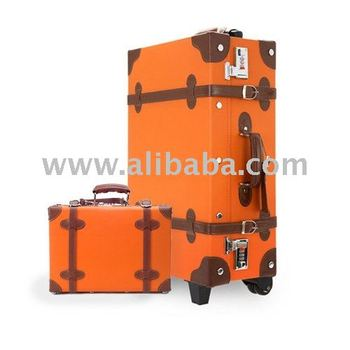 eddas] Ethos Vintage Luggage Bag (orange) 2011 New Style Luggage ...