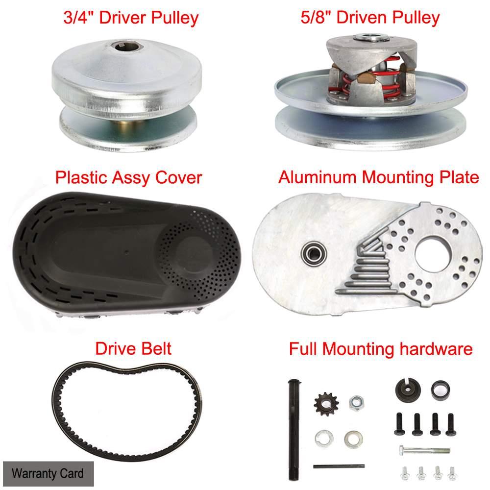 40 Series Go Kart Torque Converter With Belt 7/8 Driven and