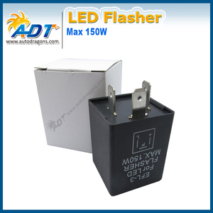 3 Pins EFL-3 LED Flasher Relay Max 150w E3 Flasher for led bulb