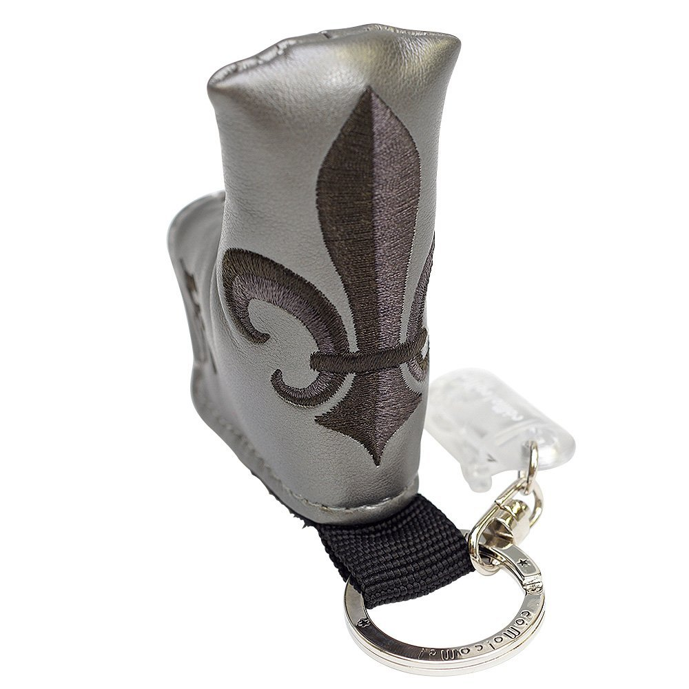 Putter cover holder Fleur Gun Metallic