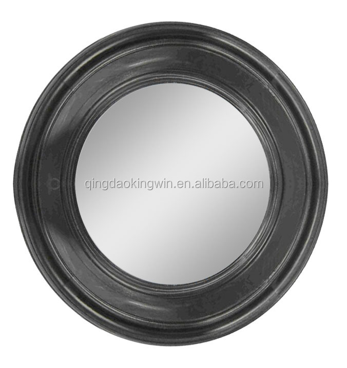 FSC decorative round wooden framed mirror