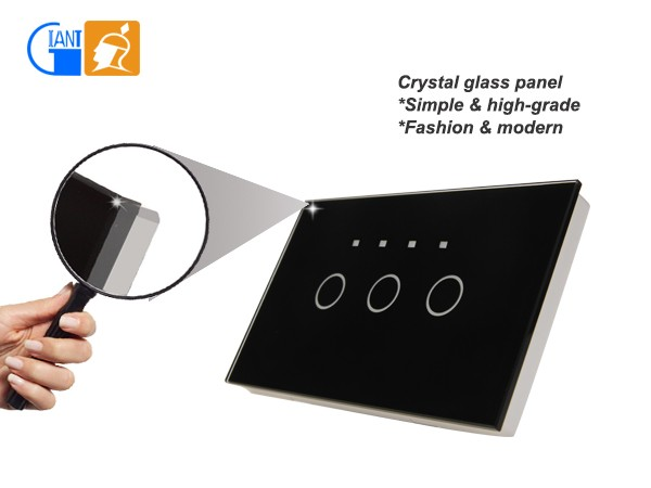 Smart Home Touch Light Wall <strong>Switch</strong> with LED Indicator Light Giant JJ-USA-03
