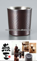 our popular line pure copper stainless steel double tumbler mug made in JAPAN new products for 2012
