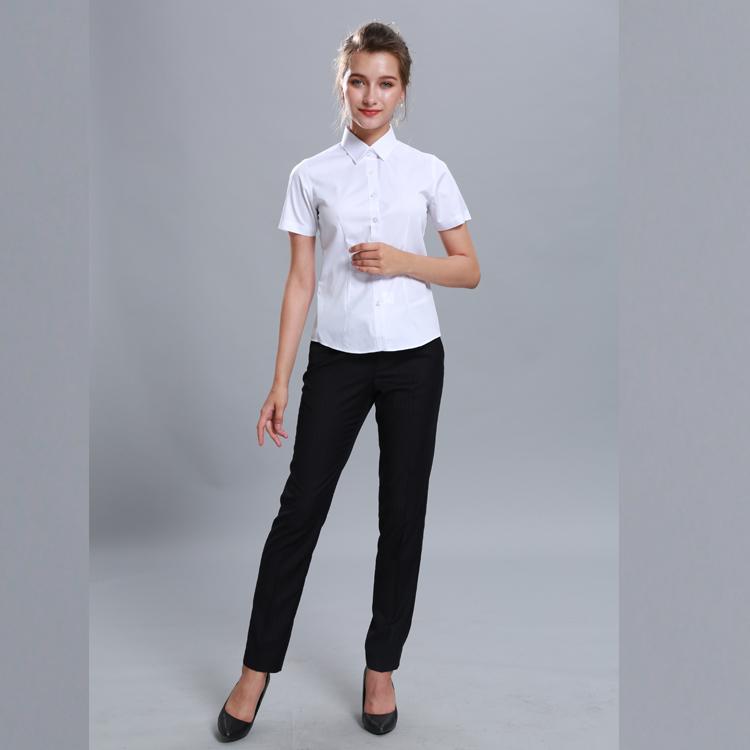 e1c1716109 Slim Casual Elegante Blanco Negocios Camisas De Vestir Para Dama ...
