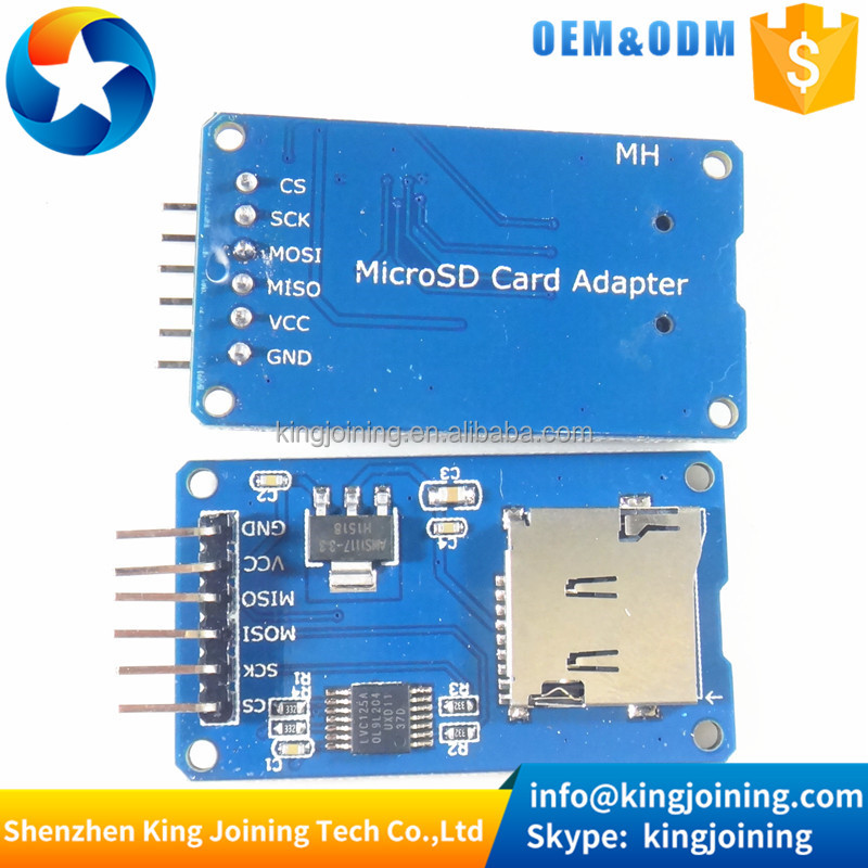 KJ222 mini TF card reader module SPI interfaces level converter chip Micro SD card adapter module for arduinos