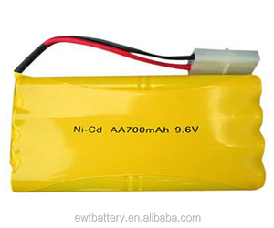 NICD pack battery 9.6 v AA 700mAh 9.6V rechargeable battery pack