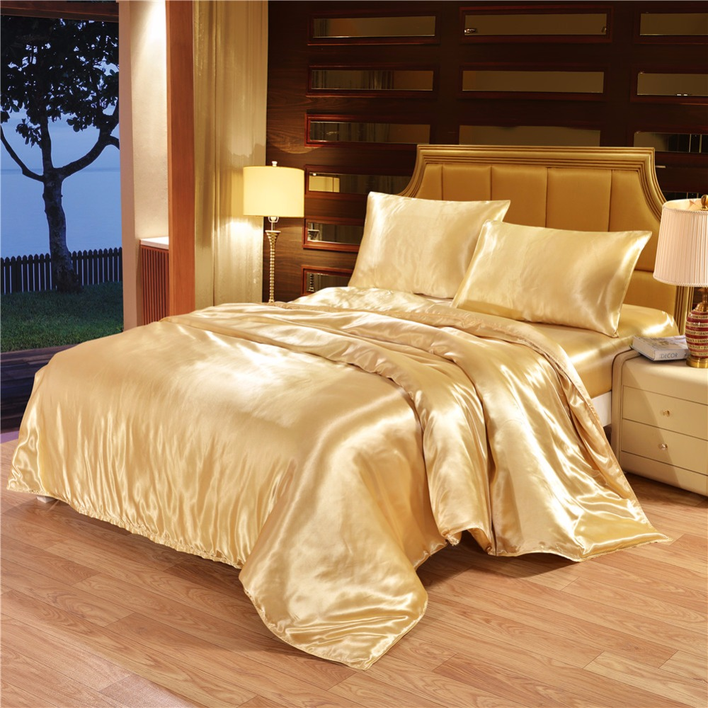 Wholesale Wedding Bedding Sets Royal Elegant Indian Silk Satin Bedding Set
