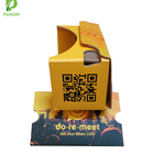 Support Custom paper yellow virtual reality vr 3d glasses for 3d videos