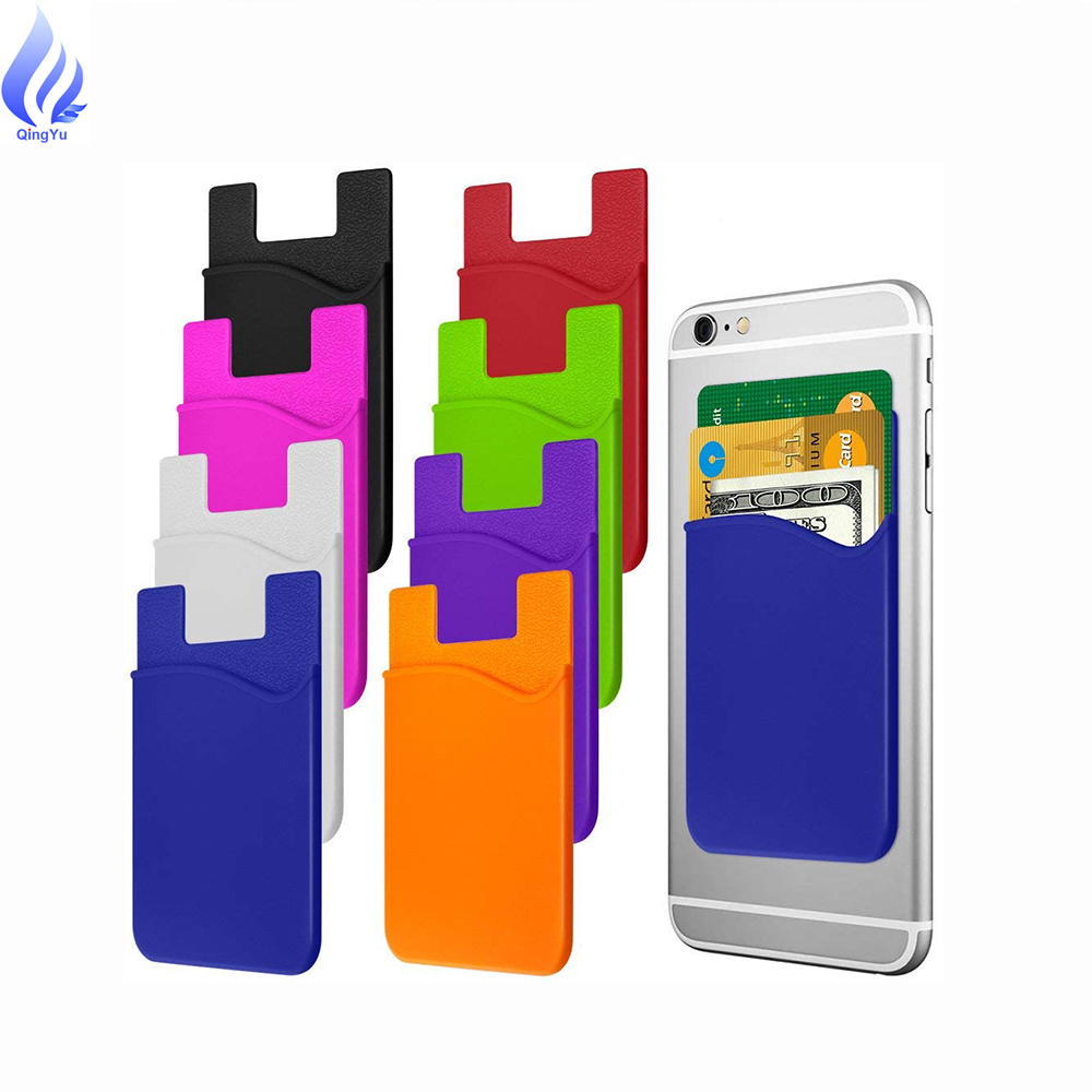 promotion item 3m sticker smart wallet mobile card holder <strong>cell</strong> <strong>phone</strong> credit card holder silicone mobile <strong>phone</strong> id card holder
