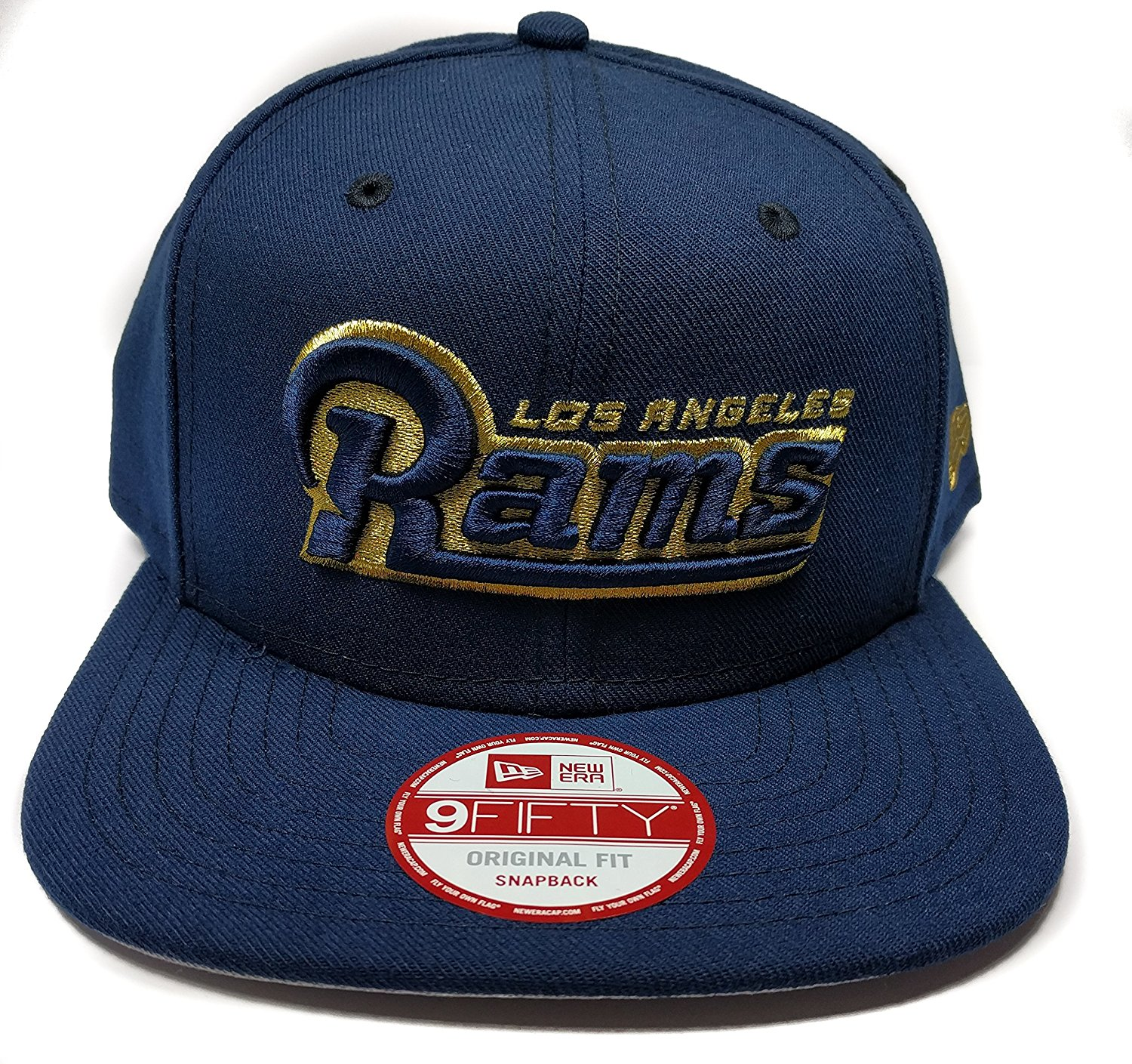 26ef9758 Get Quotations · NFL Los Angeles Rams Official Wordmark New Era 9FIFTY  Snapback Hat - Navy Blue