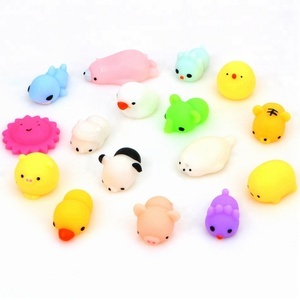 Amazon Soft Pu Stress Relief Squeeze Slow Rising Rubber Japan Kawaii Cute Little Squishy Mochi Animal Toy