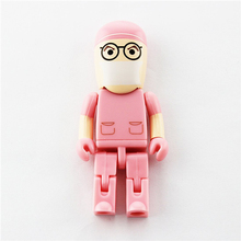 Advertising Gifts Pink Doctor Shape Usb Flash Drives Print Your Logo