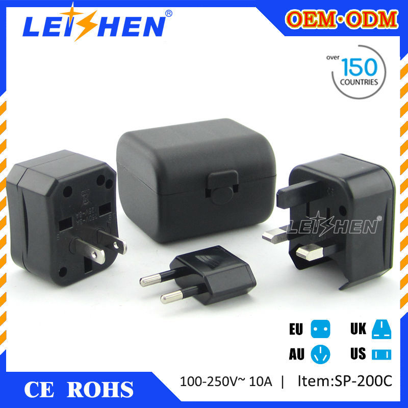 Leishen Brand CE Rohs approved travel universal adapter for promotional gifts